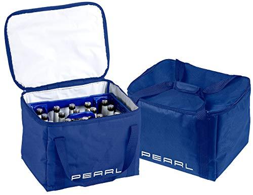 PEARL Kühltasche Bier: 2er-Set isolierte Kühltaschen, verstärkte Trageriemen für Bierkästen (Kühltasche für Bierkiste)