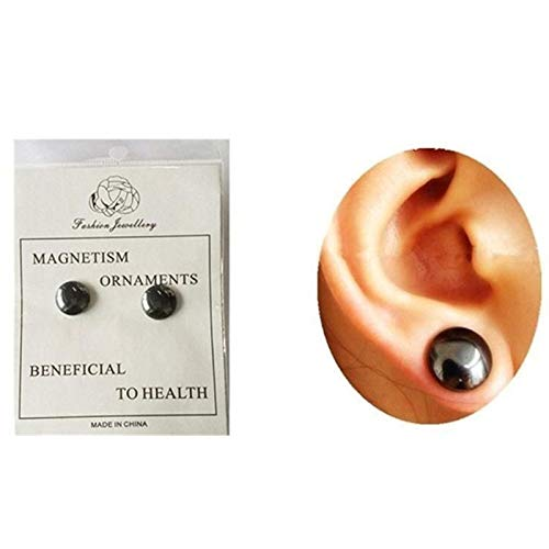 SODIAL Gesunde Anregende Akupunkturpunkte Ohrstecker Schmuck Magneten Abnehmen Patch Gewicht Verlieren Schwarze Frauen Ohrringe