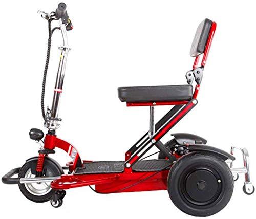 RDJM Leichte Faltbare Elektro-Rollstuhl Rollstuhl, Leichte Faltbare Elektro-Rollstuhl, Compact Power Rollstuhl, tragbare Falten Carry motorisierte Rollstühle, Durable Scooter, 50 km (Color : 50km)
