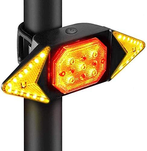 Bprtcra Fahrrad Rücklicht, Fahrrad Rad Blinker Drahtlose Fernbedienung Rückleuchte, wasserdichte LED Fahrrad Rücklicht Blinker USB Wiederaufladbar, Fahrrad Warnlicht für Mountainbike
