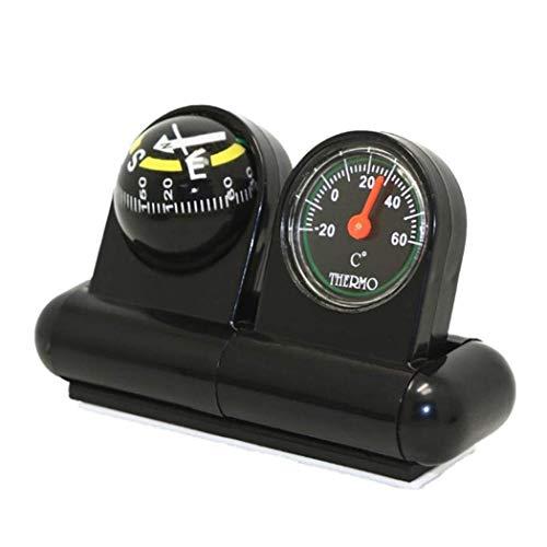 WYJW 2-in-1 boot en voertuigen, kompas, thermometer, hygrometer, auto, binnen, accessoires, bol, voor decoratie huis en buiten, D