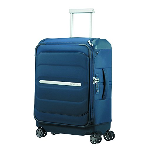 SAMSONITE Flux Soft - Spinner 55/20 w/Top Pocket Equipaje de Mano, 55 cm, 38 Liters, Azul (Navy Blue)