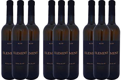 Element Royal Blanc edler Wein (weiß) mit Korkverschluß vom Weinhaus Kopp Pfalz (9 x 0,75l)