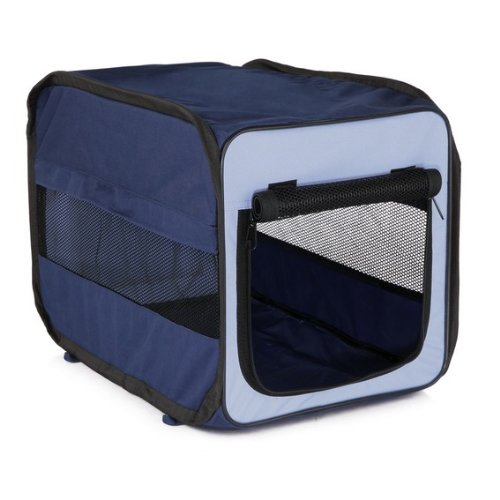 Trixie 39691 Mobile Kennel Twister, XS: 31 × 33 × 50 cm, dunkelblau/hellblau