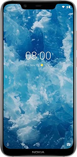 Nokia 8.1 6.18-Inch Android 9 Pie Smartphone with 4GB RAM with 64GB storage (Single Sim) - Steel