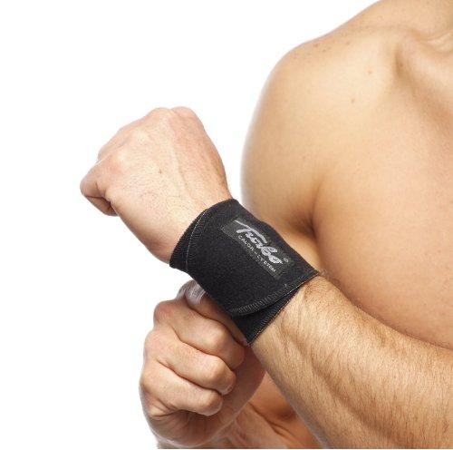TURBO Med leichte Handgelenkbandage bei Überlastung Zerrung, Verstauchung Arthrose Osteoporose SCHWARZ TM349-9
