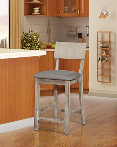 24u0022 Linon Jordan Counter Stool - Gray