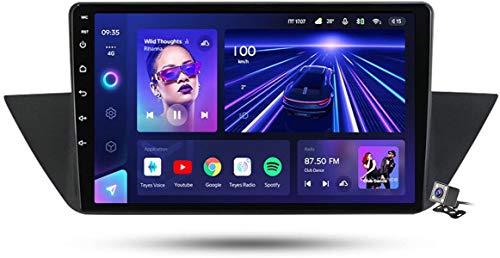 Android 10 MP5 Player GPS Navegación para BMW X1 E84 2009-2012, Soporte WiFi 5G DSP/FM RDS Radio de Coche Estéreo/BT Hands-Free Calls/Control del Volante/Carplay Android Auto