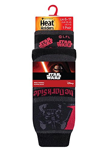 HEAT HOLDERS Herren Socken, Einfarbig Large Gr. Large, The Dark Side Star Wars
