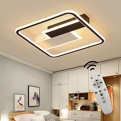 LED Dimmbar Deckenleuchte, Modern Deckenlampe mit Fernbedienung, inkl. App-Bedienung, Farbtemperatursteuerung, Nachtlichtfunktion, 60w Deckenbeleuchtung für Wohnzimmer, Schlafzimmer, Büro, Halle