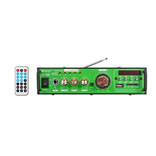 YONGYAO 500W Hogar Coche Audio Estéreo Bluetooth Digital Amplificador BT/USB/SD/FM/Mic + Control Remoto