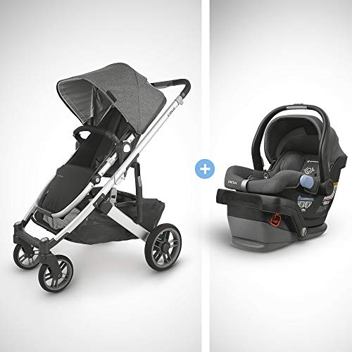Best Review Of UPPAbaby Cruz V2 Stroller - Jordan (Charcoal Melange/Silver/Black Leather) + Mesa Inf...