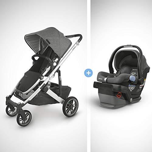 Best Review Of UPPAbaby Cruz V2 Stroller - Jordan (Charcoal Melange/Silver/Black Leather) + Mesa Inf...