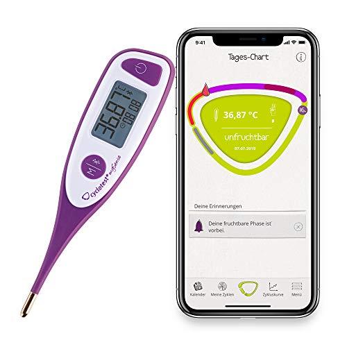 cyclotest mySense Basalthermometer digital mit Bluetooth und App für Eisprung-Tracking, hormonfreie Verhütung, NFP und Zykluskontrolle