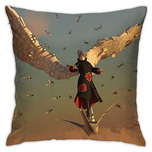 Dxddsdks Funda de cojín con diseño de Naruto, diseño de anime Naruto, suave y cómodo, para sofá, cama, silla