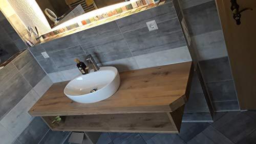 Schulten Holztechnik GmbH & Co.KG Waschtisch Eiche massiv, mit Unterbau