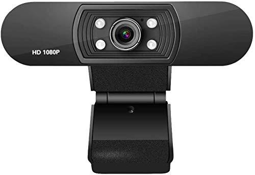 Cotify Webcam HD, 1080P/30Fps Webcam di Rete HD Microfono Incorporato Spina USB Videocamera per Computer a Fuoco Fisso con Messa a Fuoco Manuale per Skype Videochiamate Lezione dal Vivo Conferenza