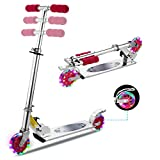 WeSkate Scooter for Kids Foldable Adjustable Height Kick Scooter 2 Light Up...
