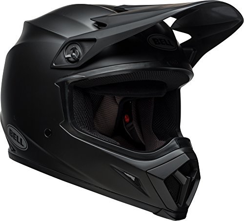 Bell MX-9 MIPS Equipped Motorcycle Helmet (Solid Matte Black, Large)