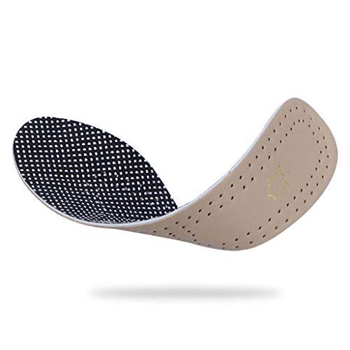 PTDJY Leder Einlegesohle Latex atmungsaktiv Schweiß absorbierenden Stoßdämpfende Lederschuhe Business Casual Beige Kann geschnitten Werden Geschmack High-End (Size : 29cm)
