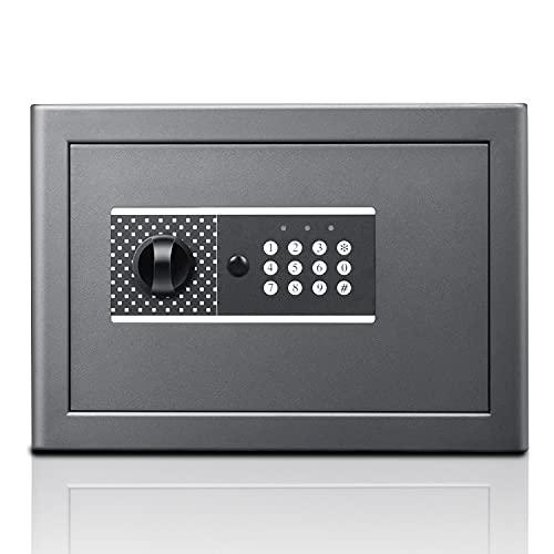 Caja fuerte para llaves: joyería, cheque de billetes, caja fuerte para aparatos electrónicos pequeños, caja fuerte compacta de primera calidad, aprobada, pernos de bloqueo motorizados de pantalla LCD