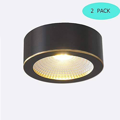 Sunny Lingt Downlight de cobre de 3W Luminaria de techo de oro negro frotado Luminaria Foco Montado en la superficie Clasificación de incendio Ahorradores de energía LED Downlighters Blanco cálido 300