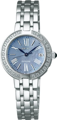[セイコーウォッチ] 腕時計 エクセリーヌ カーブサファイアガラス スーパークリア コーティング ソーラー電波修正 SWCW007 シルバー