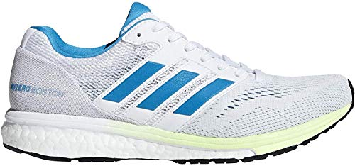 adidas Women's Adizero Boston 7 Running Shoes Cloud White/Shock Cyan/Hi-Res Yellow