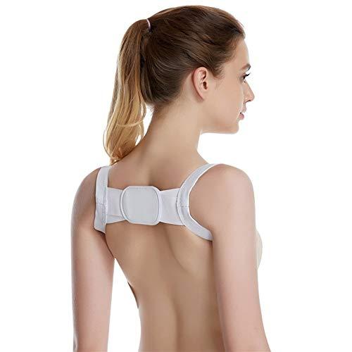 L Corrector de Postura for Mujeres y Hombres Debajo de la Ropa, Soporte cómodo for la Columna Vertebral for la clavícula y los Hombros en la Parte Superior de la Espalda: Ajustable