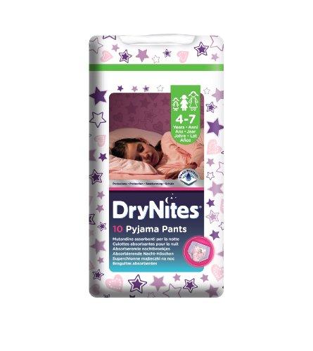 DryNites - Pyjama Pants - Pañales para niñas (4 - 7 años) - [Pack de 3 x 10 pañales]