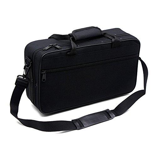 Andoer 600D Wasserdicht Gig Bag Box Oxford Tuch für Klarinette mit justierbarem einzelnem Schultergurt Tasche Foam Baumwolle gefütterte