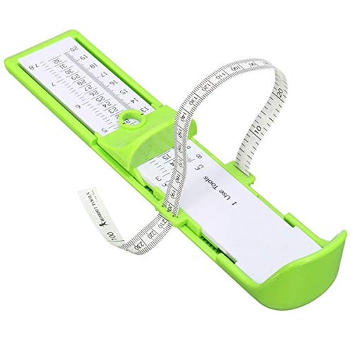 Nóż dla dzieci Infant dla małych dzieci i niemowląt, przyrząd pomiarowy do pomiaru stóp, narzędzie pomiarowe rozmiaru butów 0 – 20 cm, profesjonalna stopa – szeroki przyrząd pomiarowy dla dzieci (kolor zielony)