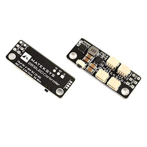 TBFEI MATEK System 2812LED Controlador 2-6S LED Módulo de Control W / 5V BEC para WS2812 LED Strip Fácil