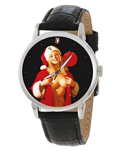 Sexy Weihnachtsmann-Klauus-Armbanduhr im Vintage-Stil, zum Sammeln, erotisch, Geschenk