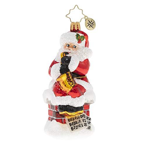 Christopher Radko Hand-Crafted European Glass Christmas Ornament, Smooth-Jazz Santa