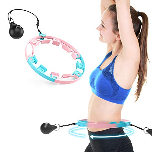 Utry Weighted Hula Hoops for Adults Exercise Hula Hoop With Weight Ball Adjustable weight Abdomen Fitness Adjustable Size Suitable for Adult Youth Children Weight Loss 360Auto Spinning