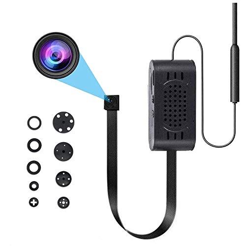 Mini cámara inalámbrica ultra pequeña HD 1080P portátil con cámaras de vigilancia de seguridad interior y exterior con detección de movimiento, con 9 tapas de lente (Tuya APP)