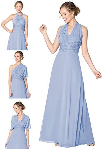 Multiway Wrap Wedding Guest Dress Chiffon Maxi Infinity Convertible Bridesmaid Dress Lavender Customized