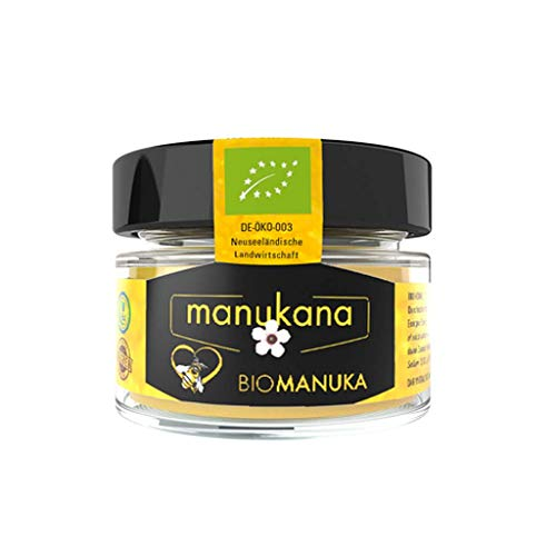 Manukana Bio Manuka Honig MGO 400+ (125g) | Weltweit beste Qualität | Ethische Imkerei | Echte Gläser