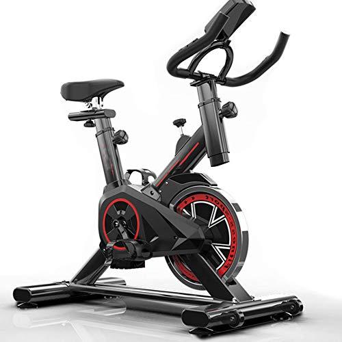 RXRENXIA Bicicleta Giratoria, Bicicleta De Ejercicio De Ciclismo Interior, Volante Directo De 20 Kg con Correa, Resistencia Magnética, Sensores De Frecuencia Cardíaca, Asiento Ajustable