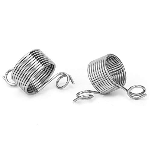 2 Stücke Leitfaden Finger Halter Stricken Fingerhut 2 Größen Ring Strickgarn Garn Verseilung Werkzeuge Home Gadgets Silber für Häkeln Stricken Handwerk Zubehör Werkzeug