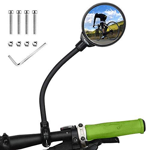 Zacro Fahrradrückspiegel, 360 ° Verstellbarer Fahrrad Rückspiegel, Universeller Fahrrad Drehspiegel, Weitwinkelrückspiegel, für Mountain Road Cycling, 1 Stück