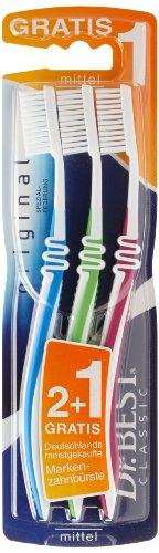 Dr.BEST Original Zahnbürste, Mittel (6x(2 Stück + 1 Stück Gratis)), Hilft, das Zahnfleisch zu schützen