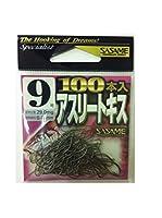 ささめ針(SASAME) 14PAS アスリートキスイブシ フック 茶100本入 9 釣り針
