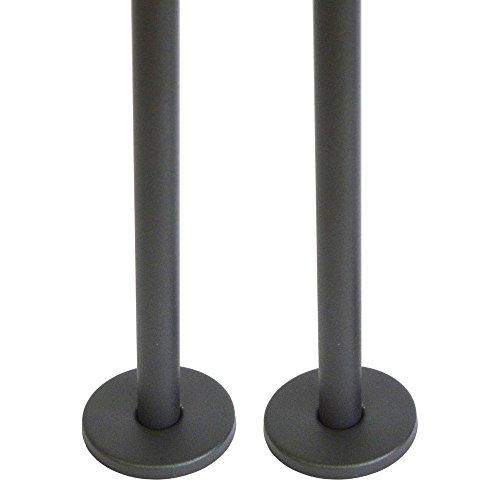 Home Standard® Antraciet Radiator Pijpen & Bottom Shrouds (Paar)