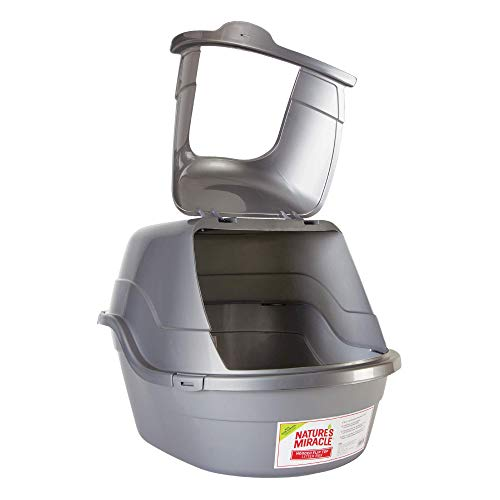 Nature's Miracle Hooded Flip Top Litter Box, Oval, With Odor Control