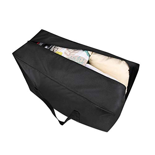 Large Storage Bag 165L Extra Moving Zips Strong Underbed 1680D Oxford Black 1 Set Storage