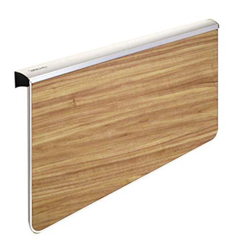 Opklapbaar bureau, wandgemonteerde klaptafel, ruimtebesparende ophangtafel voor studeerkamer, slaapkamer, badkamer of balkon, veilige belasting 50 kg-Donkere houtnerf_80cm × 58cm