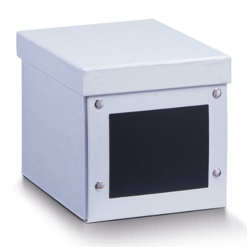 Zeller 17690 CD-BO x mit Tafel, Pappe, 16 x 21 x 16 cm, weiß