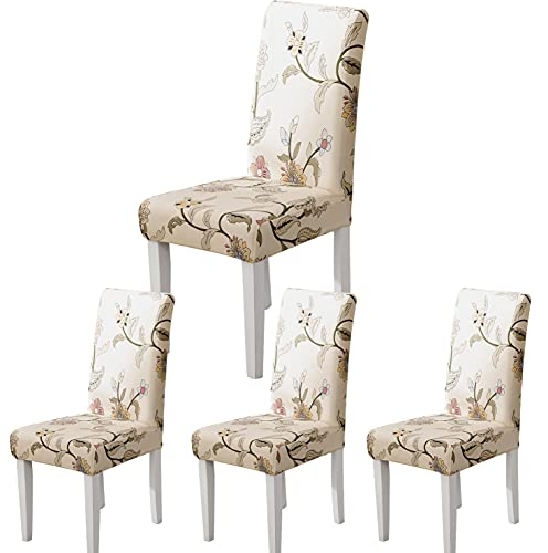 ARNTY Stuhlhussen 4/6er Set, Stuhlbezug Jacquard Esszimmer Stuhlhussen Schwingstühle Universal Hussen für Stühle für Esszimmer, Hotel,...